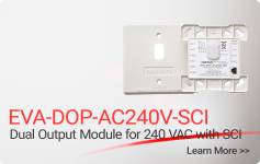 EVA-DOP-AC240V-SCI-2 Dual Output Module for 240 VAC with SCI - Nittan