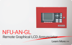 NFU-AN-GL Remote Graphical LCD Annunciator - Nittan