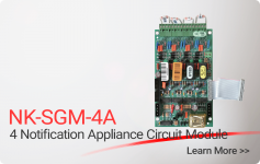 NK-SGM-4A 4 Notification Appliance Circuit Module - Nittan