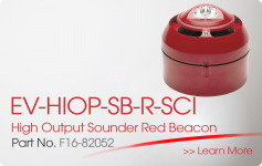 EV-HIOP-SB-R-SCI High Output Sounder Red Beacon Nittan