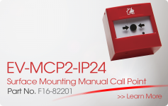 EV-MCP2-IP24 Surface Mounting Manual Call Point Nittan