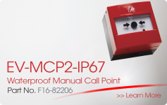 EV-MCP2-IP67 Waterproof Manual Call Point Nittan