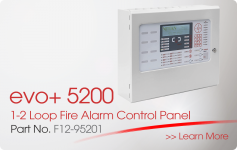 evo+5200 1-2 Loop Fire Alarm Control Panel