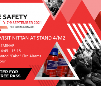 Nittan exhibit at The Fire Safety Event 2021