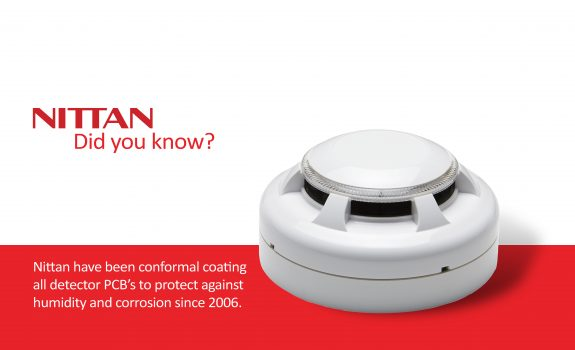 Nittan have been conformal coating all detector PCB's to protect against humidity and corrosion